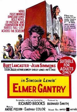 Elmer Gantry - 11 x 17 Movie Poster - Style B
