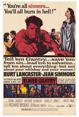 Elmer Gantry - 27 x 40 Movie Poster - Style A