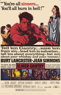 Elmer Gantry - 43 x 62 Movie Poster - Bus Shelter Style A