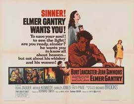 Elmer Gantry - 22 x 28 Movie Poster - Half Sheet Style A