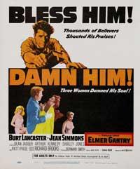 Elmer Gantry - 27 x 40 Movie Poster - Style C