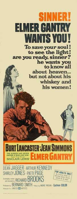 Elmer Gantry - 14 x 36 Movie Poster - Insert Style A