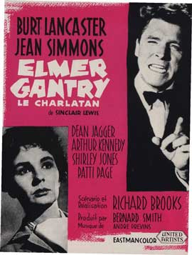 Elmer Gantry - 11 x 17 Movie Poster - French Style B