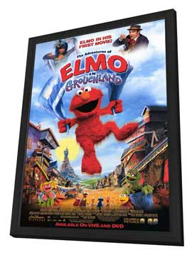 Elmo in Grouchland - 11 x 17 Movie Poster - Style A - in Deluxe Wood Frame