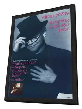 Elton John - 11 x 17 Movie Poster - Style A - in Deluxe Wood Frame