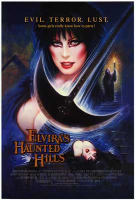Elvira's Haunted Hills - Movie Poster - Reproduction - 27 x 40 - Style A