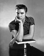 Elvis Presley - Elvis Presley Posed in Stripes Polo Shirt