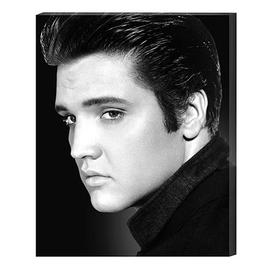 Elvis Presley - Portrait Large Stretched Canvas Print