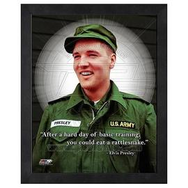Elvis Presley - Elvis Prelsey ProQuote Basic Training Framed Photo
