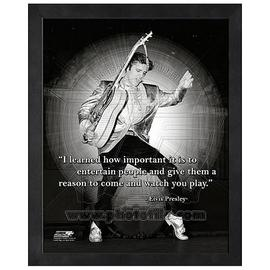 Elvis Presley - ProQuote Entertain People Framed Photo