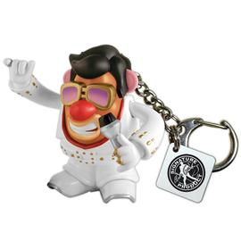 Elvis Presley - White Jumpsuit Mr. Potato Head Key Chain