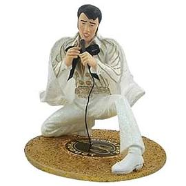 Elvis Presley - White Jumpsuit Fabric Mache 6-Inch Statue