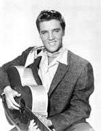 Elvis Presley - Elvis Presley Seated in Classic with Scarf