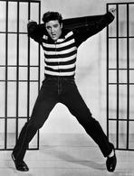 Elvis Presley - Elvis Presley Jumping in Stripes Shirt