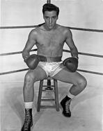 Elvis Presley - Elvis Presley in Boxing Outfit Black and White