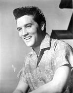 Elvis Presley - Elvis Presley smiling Portrait in Printed Polo