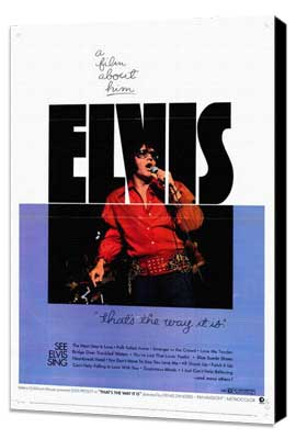Elvis: That's the Way It Is - 27 x 40 Movie Poster - Style A - Museum Wrapped Canvas