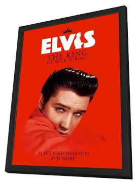 Elvis: The King of Rock 'n' Roll - 27 x 40 Movie Poster - UK Style A - in Deluxe Wood Frame