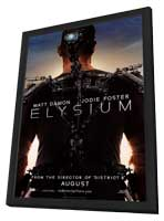 Elysium - 11 x 17 Movie Poster - Style A - in Deluxe Wood Frame