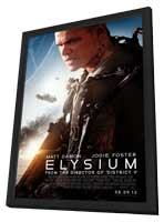 Elysium - 27 x 40 Movie Poster - Style B - in Deluxe Wood Frame