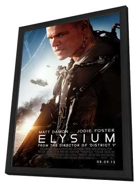 Elysium - 11 x 17 Movie Poster - Style B - in Deluxe Wood Frame
