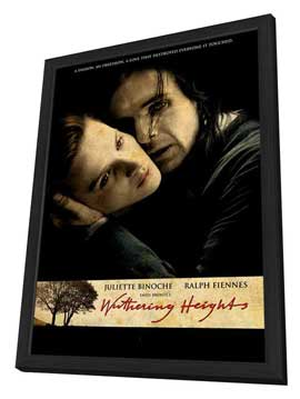 Emily Bront�'s Wuthering Heights - 11 x 17 Movie Poster - UK Style A - in Deluxe Wood Frame
