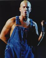 Eminem - Eminem Wearring Blue Denim Outfit Portrait