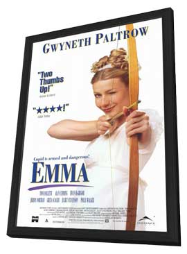 Emma - 27 x 40 Movie Poster - Style B - in Deluxe Wood Frame