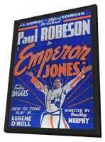 Emperor Jones - 11 x 17 Movie Poster - Style B - in Deluxe Wood Frame