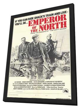 Emperor of the North Pole - 11 x 17 Movie Poster - Style E - in Deluxe Wood Frame