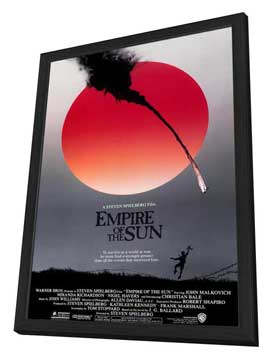 Empire of the Sun - 27 x 40 Movie Poster - Style A - in Deluxe Wood Frame