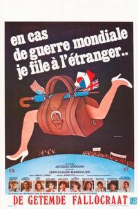 En cas de guerre mondiale, je file � l'�tranger - 27 x 40 Movie Poster - Belgian Style A