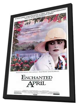Enchanted April - 11 x 17 Movie Poster - Style A - in Deluxe Wood Frame