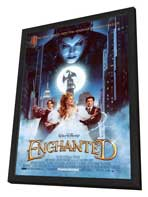 Enchanted - 27 x 40 Movie Poster - Style A - in Deluxe Wood Frame