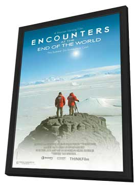 Encounters at the End of the World - 11 x 17 Movie Poster - Style A - in Deluxe Wood Frame