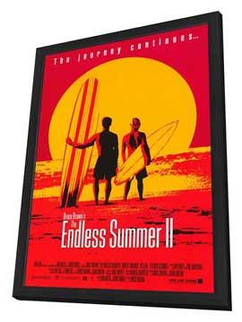 The Endless Summer 2 - 11 x 17 Movie Poster - Style B - in Deluxe Wood Frame