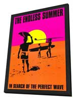 The Endless Summer - 11 x 17 Movie Poster - Style E - in Deluxe Wood Frame
