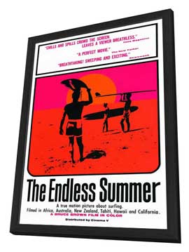 The Endless Summer - 27 x 40 Movie Poster - Style A - in Deluxe Wood Frame
