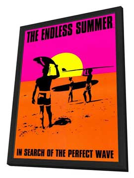 The Endless Summer - 27 x 40 Movie Poster - Style C - in Deluxe Wood Frame