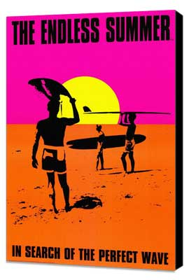 The Endless Summer - 27 x 40 Movie Poster - Style C - Museum Wrapped Canvas