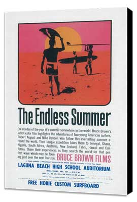 The Endless Summer - 27 x 40 Movie Poster - Style D - Museum Wrapped Canvas