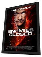Enemies Closer - 11 x 17 Movie Poster - Style A - in Deluxe Wood Frame