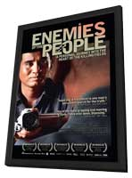 Enemies of the People - 11 x 17 Movie Poster - UK Style A - in Deluxe Wood Frame