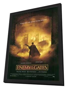 Enemy at the Gates - 27 x 40 Movie Poster - Style B - in Deluxe Wood Frame