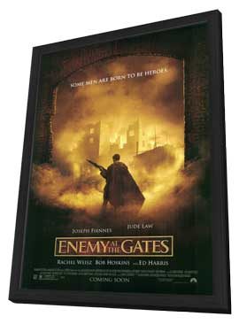 Enemy at the Gates - 11 x 17 Movie Poster - Style B - in Deluxe Wood Frame