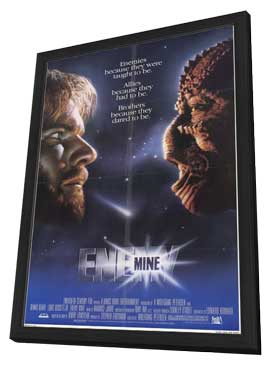 Enemy Mine - 11 x 17 Movie Poster - Style A - in Deluxe Wood Frame