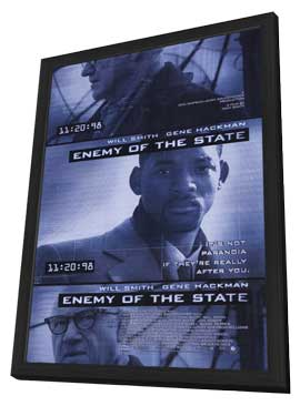 Enemy of the State - 11 x 17 Movie Poster - Style A - in Deluxe Wood Frame