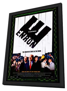 Enron: The Smartest Guys in the Room - 27 x 40 Movie Poster - Style A - in Deluxe Wood Frame