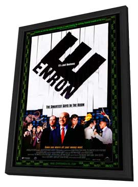 Enron: The Smartest Guys in the Room - 11 x 17 Movie Poster - Style A - in Deluxe Wood Frame