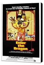 Enter the Dragon - 27 x 40 Movie Poster - Style C - Museum Wrapped Canvas